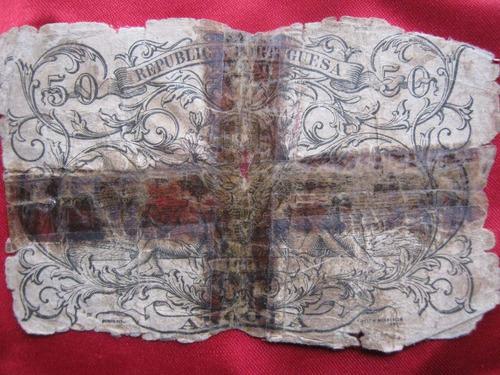 colonia de angola 50 centavos  1921 raro