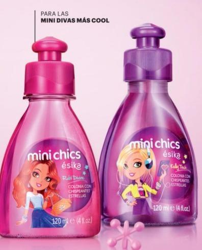 colonia mini chics kelly techs y rubi de esika para niñas