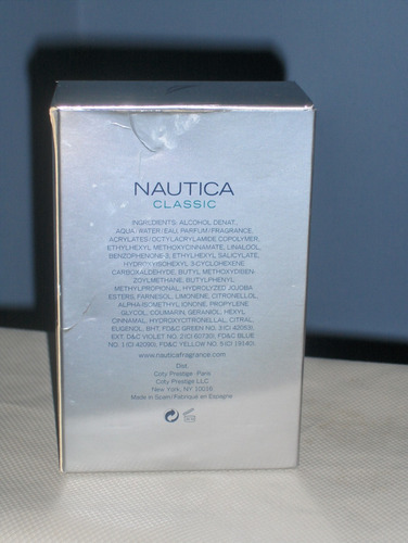 colonia nautica classic 100 ml original no se hace envío