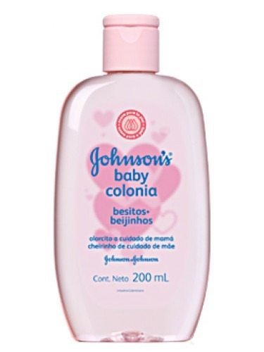 colonia perfume bebe johnsons baby besitos 200 ml rosa