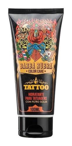 color care hidratante de tatuagens filtro solar barba rubra