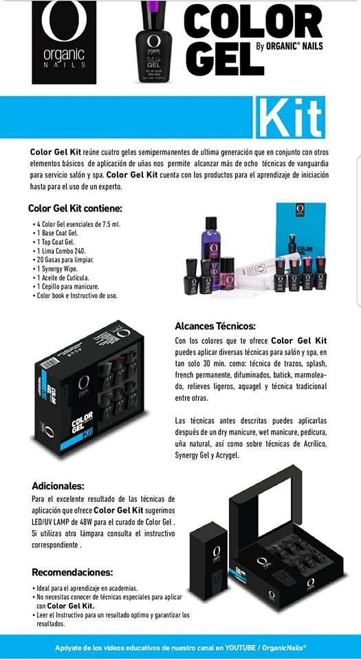 Color Gel Kit By Organic Nails - $ 2.799,00 en Mercado Libre