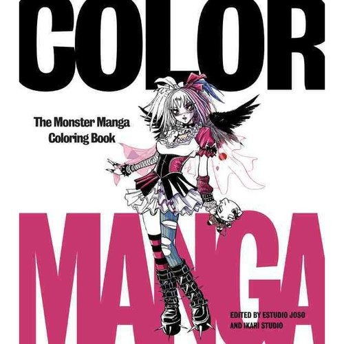 color manga: el manga de monster para colorear libro