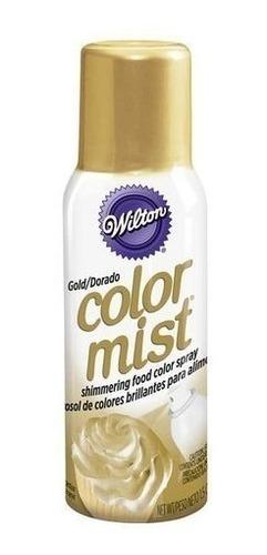 color mist wilton color en aerosol comestible dorado