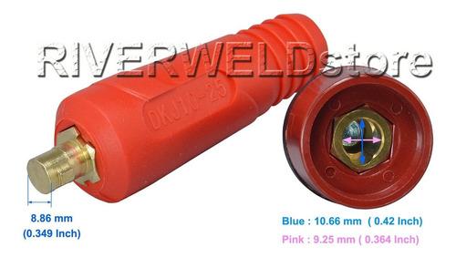 color tig cable quick panel conector enchufe estilo dinse 25