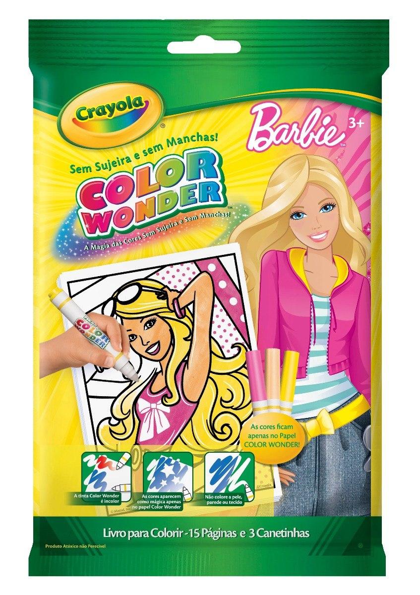 Color Wonder Barbie Português - R$ 29,90 em Mercado Livre