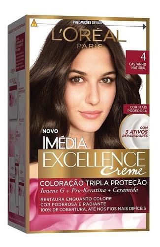 coloração imédia excellence 4 castanho natural