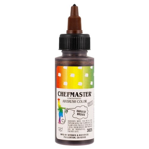 colorante liquido aerografo marron chefmaster 60 ml 2 oz