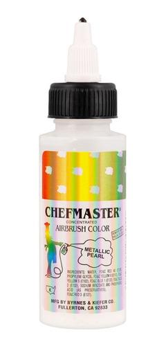 colorante liquido blanco metalizado 2 onzas 60 ml chefmaster
