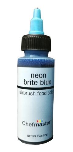 colorante liquido neon azul 60 ml 2 onzas chefmaster