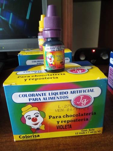 colorante liquido para reposteria payasito (precio por caja)