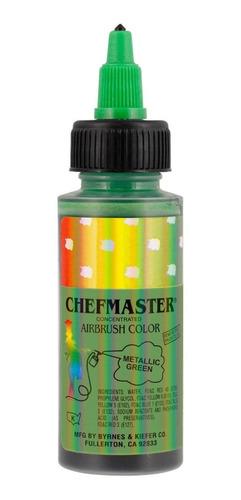 colorante liquido verde metalizado chefmaster 60 ml 2 onzas.