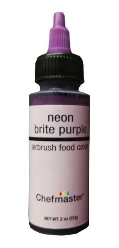 colorante neon  violeta purple chefmaster 2 onzas 60 ml