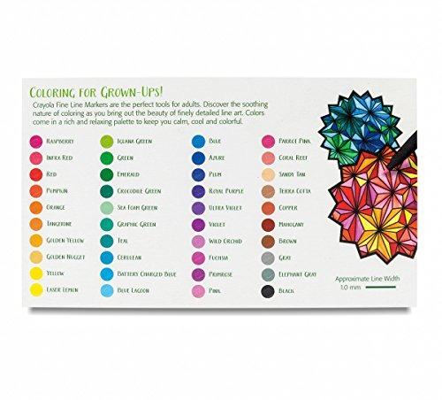 Colorante Para Adultos Crayola, Marcadores De Línea Fina 40 ...