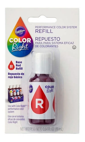 colorante rojo color right wilton original - no full