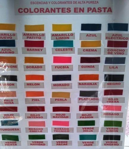 colorantes en pasta gel concentrado para fondant  + promo