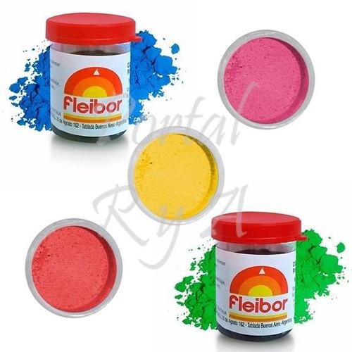 colorantes liposolubles comestibles fleibor - combo x 5