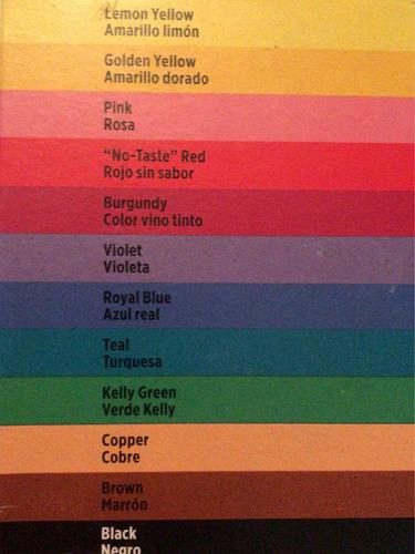colorantes para glaseado en gel marca wilton