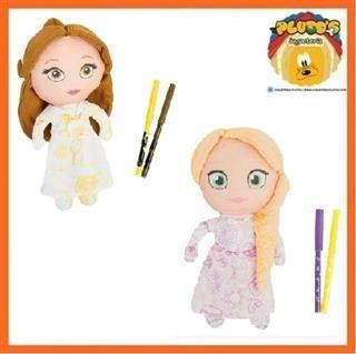 Colorea A Tu Princesa Rapunzel Muñeca De Tela Para Colorear