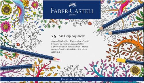 colores acuareables art grip aquarelle x 36 faber castell