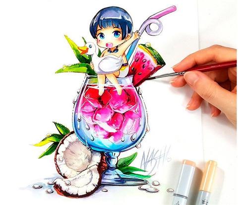colores acuarelables faber castell anime art - súper promo!