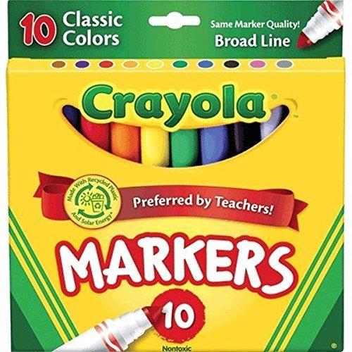Colores Crayola Classic Amplia Línea Marcadores, 10 Count (p ...