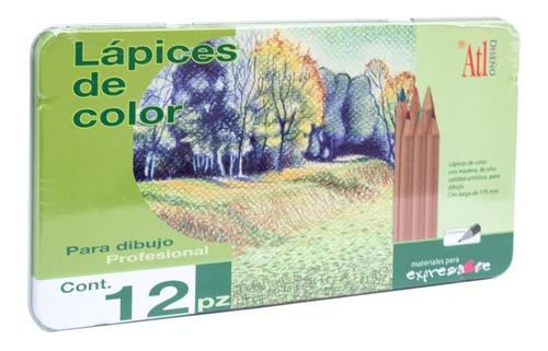 colores de madera 12 lápices profesionales diseño arte