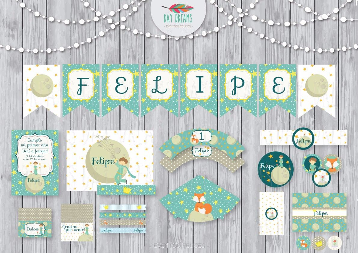 Colores El Principito Kit Imprimible Personalizado Candy Bar - $ 310 ...