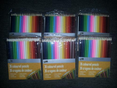 colores escolares (36 colores) excelente calidad marca media