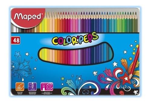 colores maped x 48 caja metal - unidad a $1250
