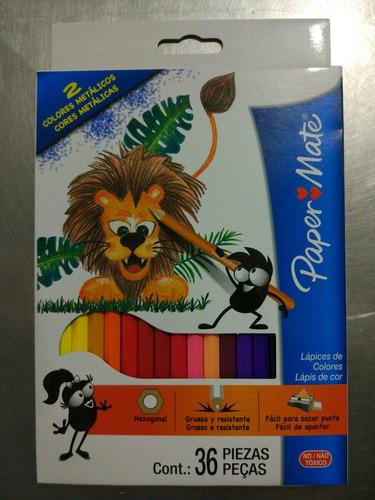 colores paper mate de 36 unidades