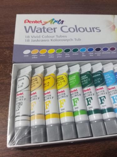 colores pinturas acuarelas 18 tubos oferta pentel acuarela