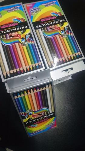 colores prismacolor 12 colores (paquete con 10 cajas)
