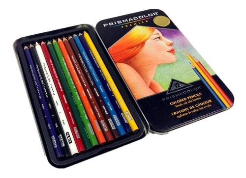 colores prismacolor premier 12 colores estuche metalico