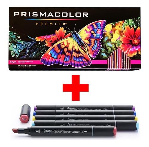colores prismacolor premier 150 + 5 wicked markers prof