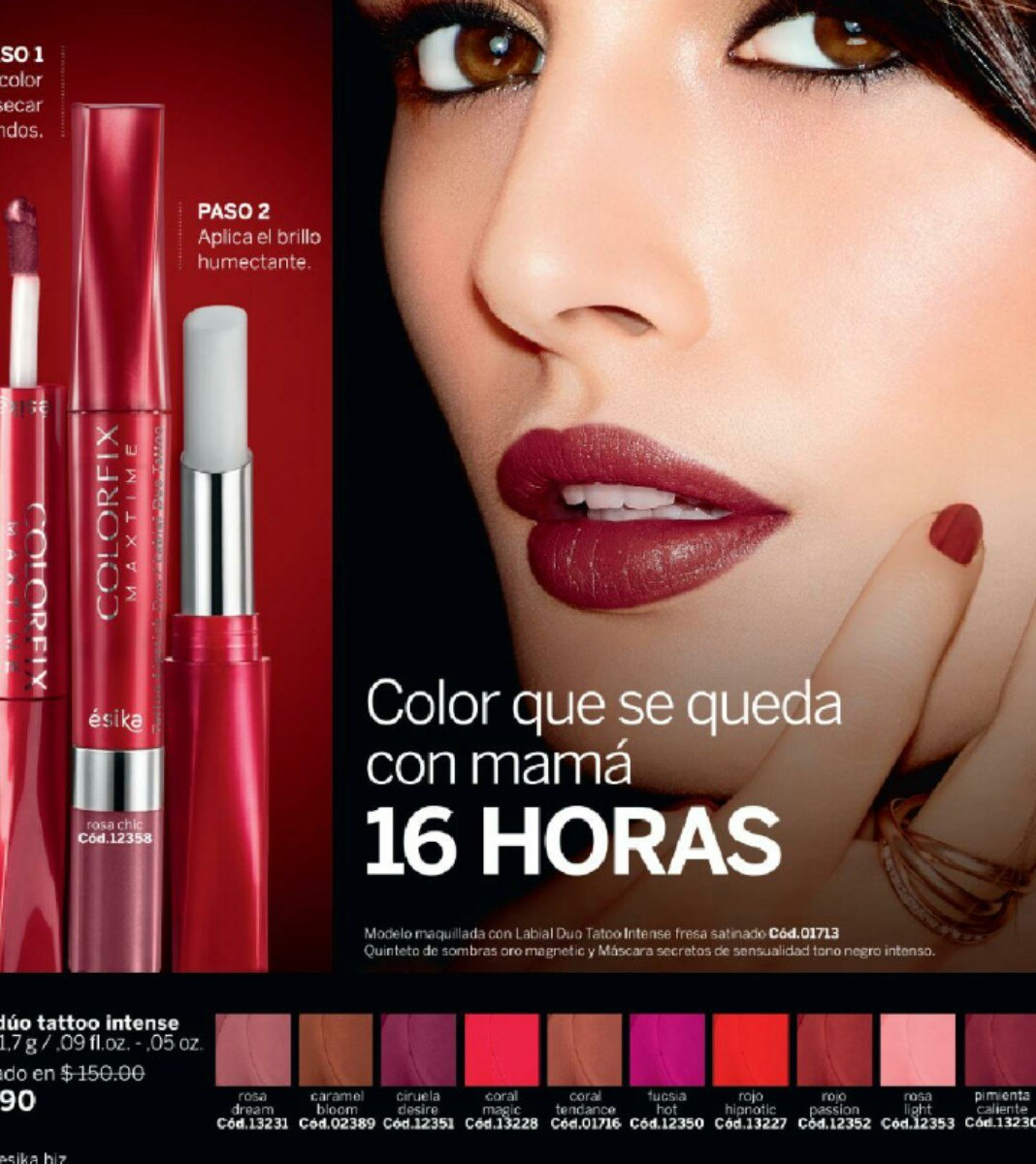 colorfix maxtime labial duo tatoo intense de esika 75
