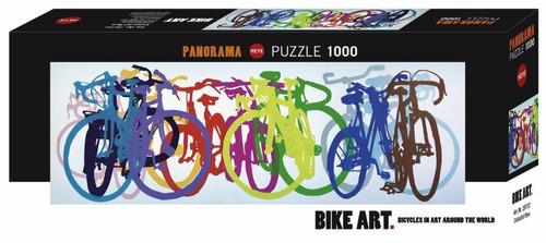 colorful row, bicicletas bike art 1000pz rompecabezas heye