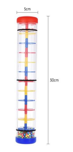 colorido 12 rainmaker lluvia palo musical instrumento de jug