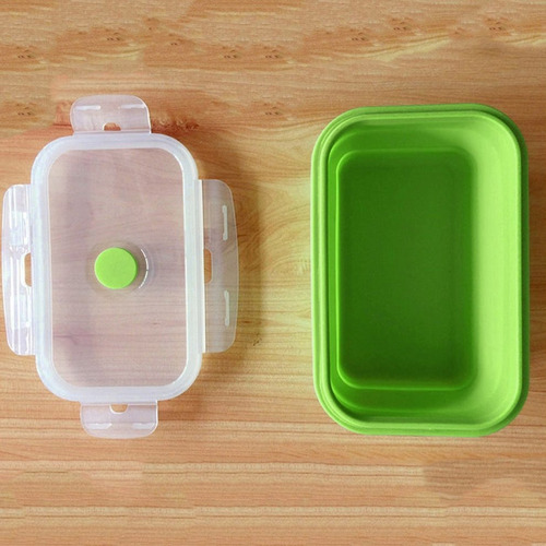 colorido plegable de silicona fiambrera ecológico contenedor