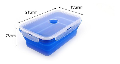 colorido plegable silicona fiambrera ecológico contenedor fi