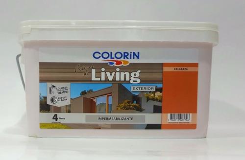 colorin living pintura látex frentes exterior colores x4 lts