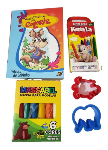 colorir kit infantil 01 - brincando e colorindo