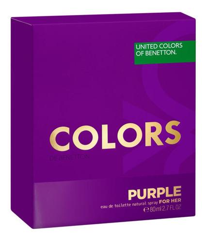 colors purple benetton eau de toilette perfume feminino blz