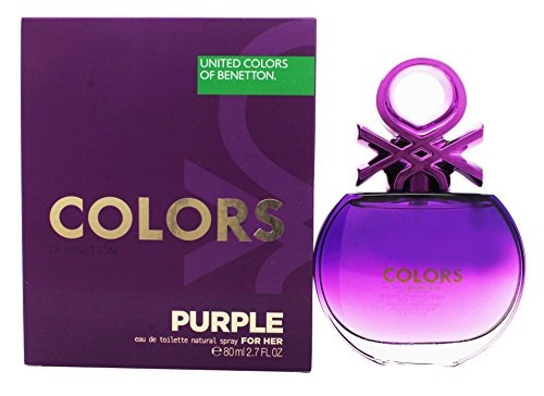 colors purple benetton perfume mujer edt 80ml original