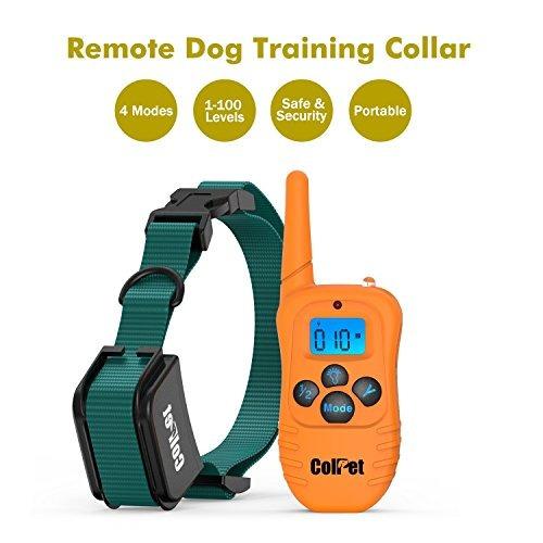 colpet 330-yard range recargable impermeable dog shock coll