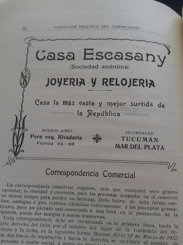 colsultor practico del comerciante 1912 publicidad antigua