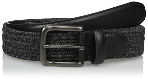 columbia mohawk stretch web belt, negro-gris, 40