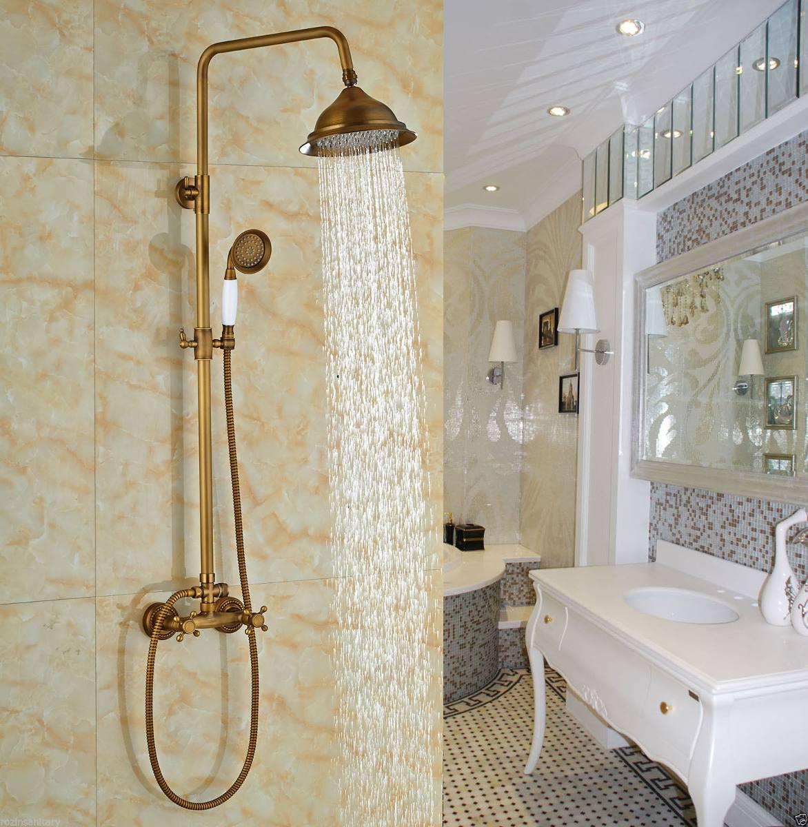 Columna ba o regadera antiguo redonda lluvia ducha mano for Griferia para duchas con regadera