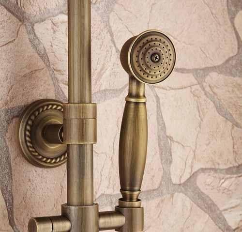 Columna ba o regadera antiguo redonda lluvia ducha mano for Ducha efecto lluvia precio