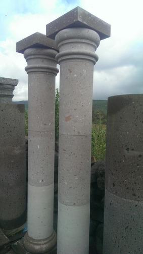 columna de cantera natural de 30cm de diámetro